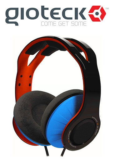 [675944] Gioteck TX-30 Stereo 'Game & Go' Wired Headset Orange/Blue