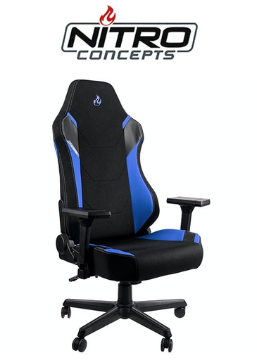 [676218] Nitro Concepts X1000 - Black/Blue Gaming chair
