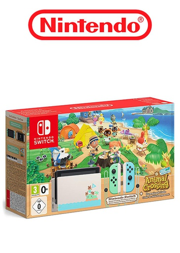 [676219] Nintendo Switch console - Animal Crossing New Horizons Limited Edition PAL