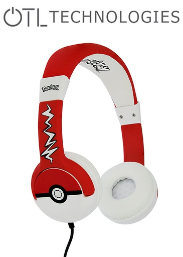 [676591] OTL Pokemon Pokeball Junior Headphones