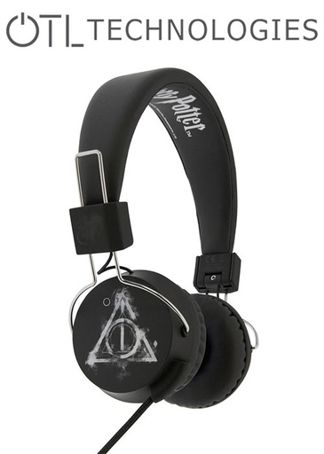 [676596] OTL Harry Potter Smokey Deathly Hallows Tween Headphone