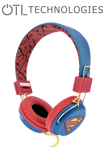 [676598] OTL Superman Vintage Tween Headphones