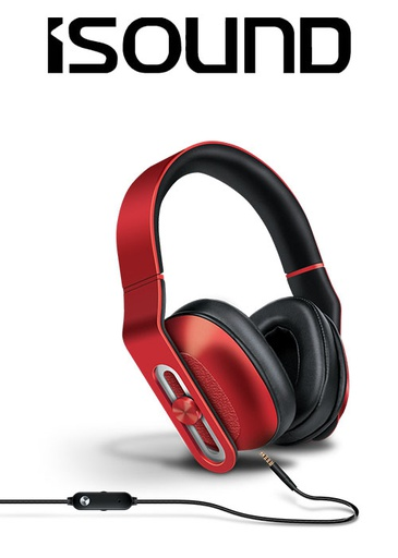 [676626] ISOUND HM-330 WIRED HEADPHONES - RED