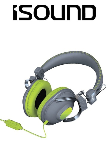 [676630] ISOUND HM-260 HEADPHONE - GREEN/GREY