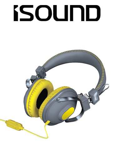 [676634] ISOUND HM-260 HEADPHONE - YELLOW/GREY