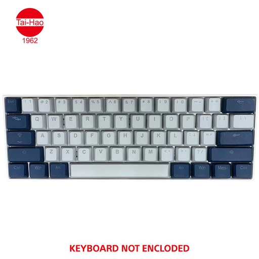 [676657] Tai-Hao 132-Keys PBT Double Shot Backlit-Keycap Set - Cool Gray / Navy