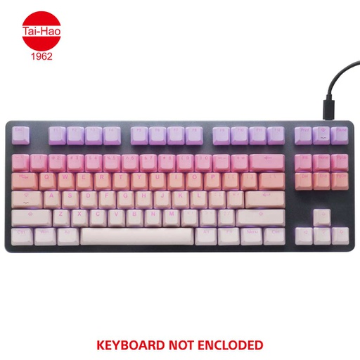 [676663] Tai-Hao 140-Keys PBT Double Shot Backlit-Keycap Set - Sakura Michi