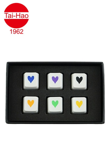 [676674] Tai-Hao 6-Keys ABS Heart Set - Black