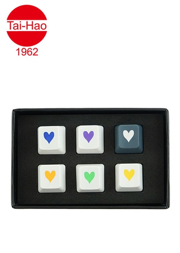 [676677] Tai-Hao 6-Keys ABS Heart Set - Grey