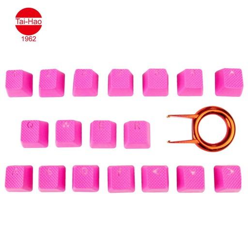 [676678] Tai-Hao 18-Keys TPR Backlit Double Shot Rubber-Keycap Set - Neon Pink