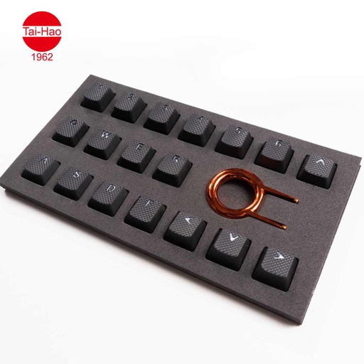 [676683] Tai-Hao 18-Keys TPR Backlit Double Shot Rubber-Keycap Set - Black