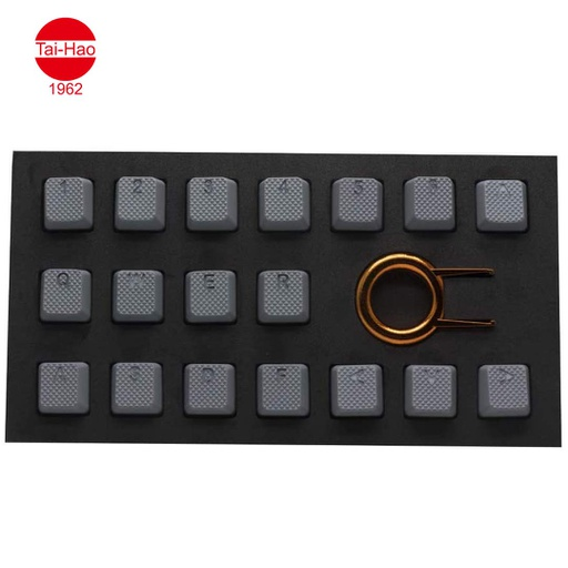 [676684] Tai-Hao 18-Keys TPR Backlit Double Shot Rubber-Keycap Set - Gray