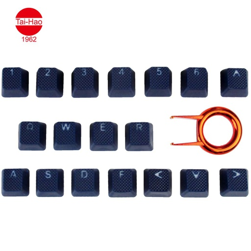 [676685] Tai-Hao 18-Keys TPR Backlit Double Shot Rubber-Keycap Set - Blue