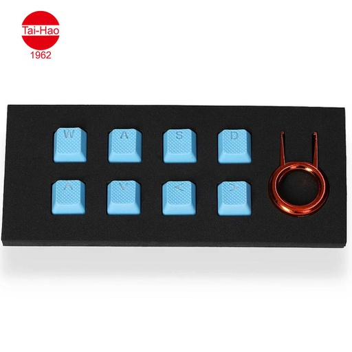 [676697] Tai-Hao 8-Keys Rubber Gaming Backlit-Keycap - Neon blue