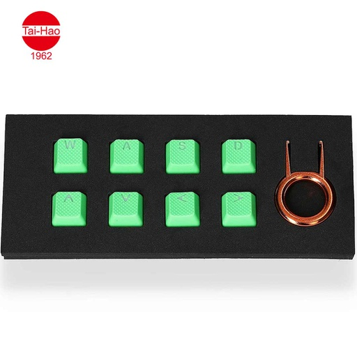[676698] Tai-Hao 8-Keys Rubber Gaming Backlit-Keycap - Neon Green