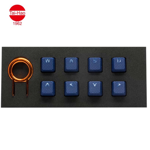 [676704] Tai-Hao 8-Keys Rubber Gaming Backlit-Keycap - Dark Blue