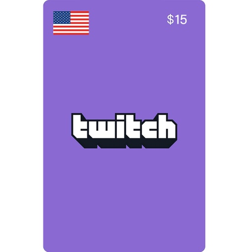[677318] Twitch Gift Cards: 15$ US Account [Digital Code]